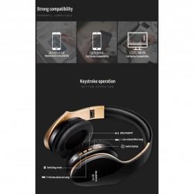 NISHEN Wireless Bluetooth Headphone Foldable with Microphone - SN-P18 - Black - 13