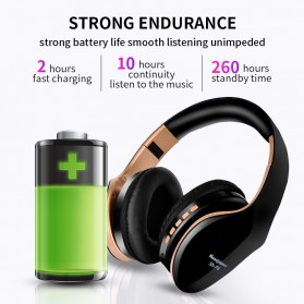 NISHEN Wireless Bluetooth Headphone Foldable with Microphone - SN-P18 - Black - 3