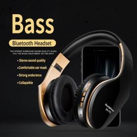 NISHEN Wireless Bluetooth Headphone Foldable with Microphone - SN-P18 - Black - 7
