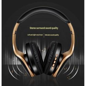 NISHEN Wireless Bluetooth Headphone Foldable with Microphone - SN-P18 - Black - 8
