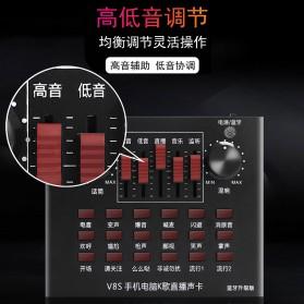 Flanger Audio Bluetooth USB External Soundcard Live Broadcast Smartphone Microphone Headset - V8S - Black - 4