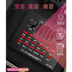 Flanger Audio Bluetooth USB External Soundcard Live Broadcast Smartphone Microphone Headset - V8S - Black - 6