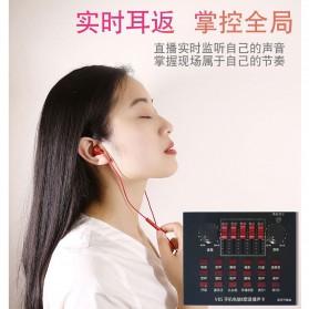 Flanger Audio Bluetooth USB External Soundcard Live Broadcast Smartphone Microphone Headset - V8S - Black - 7