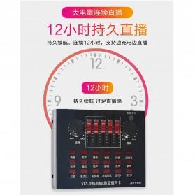 Flanger Audio Bluetooth USB External Soundcard Live Broadcast Smartphone Microphone Headset - V8S - Black - 8