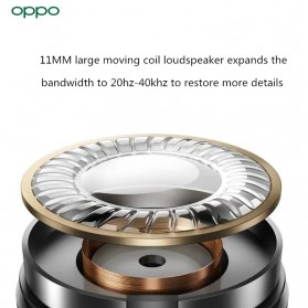 OPPO O-Fresh HiFi Earphone Sporty Design USB Type-C with Mic - MH153 (Replika 1:1) - Black - 6