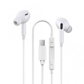 Centechia New Airpods III  In-ear Stereo Earphone USB Type C with Microphone - White