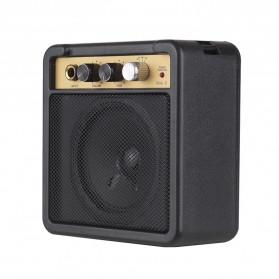 MaxP Amplifier Mini Gitar Elektrik 5W 6.35mm Input 1/4 Inch Headphone Jack - MA-5 - Black - 2