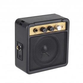 MaxP Amplifier Mini Gitar Elektrik 5W 6.35mm Input 1/4 Inch Headphone Jack - MA-5 - Black - 4