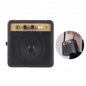 MaxP Amplifier Mini Gitar Elektrik 5W 6.35mm Input 1/4 Inch Headphone Jack - MA-5 - Black - 5