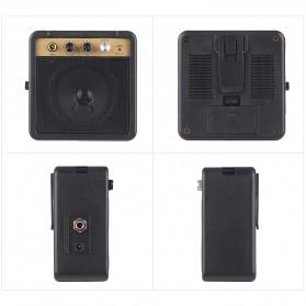 MaxP Amplifier Mini Gitar Elektrik 5W 6.35mm Input 1/4 Inch Headphone Jack - MA-5 - Black - 6