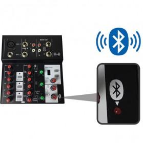 Ammoon Console Karaoke Mixer 2 Channel Input Mic + Bluetooth - N-9 - Black - 2
