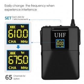 KEPHE UHF Wireless Lavalier Lapel Microphone System Podcast Live - MC0001 - Black - 3