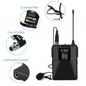 KEPHE UHF Wireless Lavalier Lapel Microphone System Podcast Live - MC0001 - Black - 4