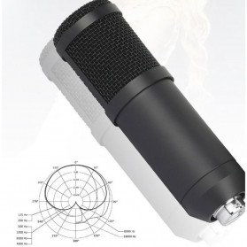 SZKOSTON Microphone Condenser USB for Computer Karaoke Mikrofon - BM-800 - Black