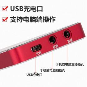 XMOVE Audio USB External Soundcard Live Broadcast Audio - Q10 - Black - 7