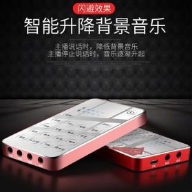 XMOVE Audio USB External Soundcard Live Broadcast Audio - Q10 - Black - 8