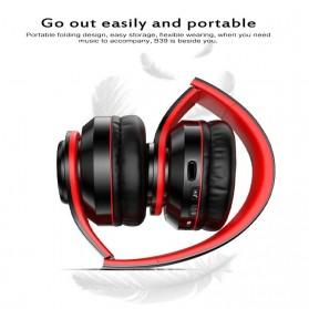 Centechia Wireless Headphone Bluetooth 5.0 Radio TF Function B39 - Red/Black - 2