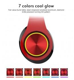 Centechia Wireless Headphone Bluetooth 5.0 Radio TF Function B39 - Red/Black - 3