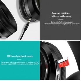 Centechia Wireless Headphone Bluetooth 5.0 Radio TF Function B39 - Red/Black - 5