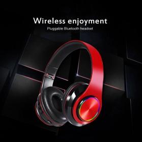 Centechia Wireless Headphone Bluetooth 5.0 Radio TF Function B39 - Red/Black - 9