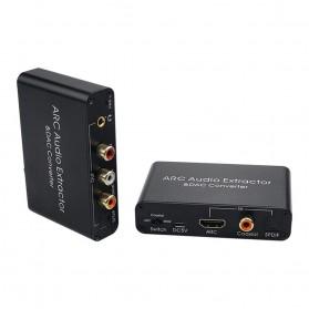 ALLOYSEED Konverter Audio DAC HDMI ARC Coaxial Toslink ke 3.5mm AUX RCA - AL192 - Black - 10