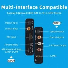 ALLOYSEED Konverter Audio DAC HDMI ARC Coaxial Toslink ke 3.5mm AUX RCA - AL192 - Black - 4