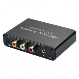 ALLOYSEED Konverter Audio DAC HDMI ARC Coaxial Toslink ke 3.5mm AUX RCA - AL192 - Black - 6