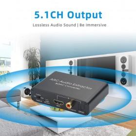 ALLOYSEED Konverter Audio DAC HDMI ARC Coaxial Toslink ke 3.5mm AUX RCA - AL192 - Black - 7