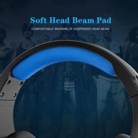 IKOLE Gaming Headset Headphone LED Light with Microphone - J10 - Black/Blue - 6