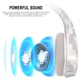IKOLE Gaming Headset Headphone LED Light with Microphone - J10 - Gray/White - 4