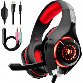 Beexcellent Gaming Headphone Headset LED with Mic - GM-1 - Red