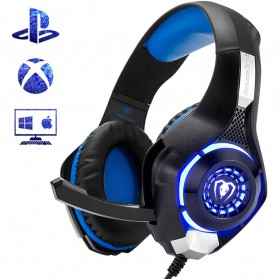 Beexcellent Gaming Headphone Headset LED with Mic - GM-1 - Blue