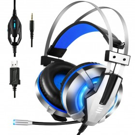 EKSA Gaming Headphone Headset LED with Mic - E800 - Blue - 1