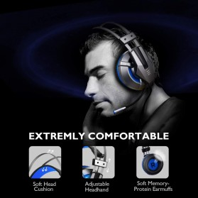 EKSA Gaming Headphone Headset LED with Mic - E800 - Blue - 2