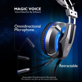 EKSA Gaming Headphone Headset LED with Mic - E800 - Blue - 3