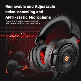 EKSA Gaming Headphone Headset LED Virtual 7.1 with Mic - E900 - Black - 2