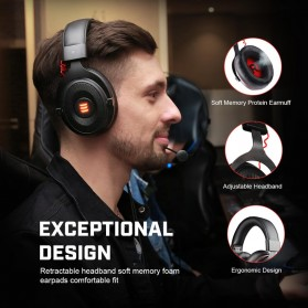 EKSA Gaming Headphone Headset LED Virtual 7.1 with Mic - E900 - Black - 3
