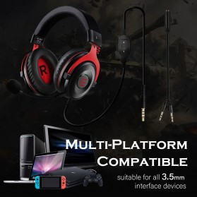 EKSA Gaming Headphone Headset LED Virtual 7.1 with Mic - E900 - Black - 10