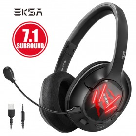EKSA Air Joy Pro Gaming Headphone Headset LED Virtual 7.1 with Mic - E3 - Black