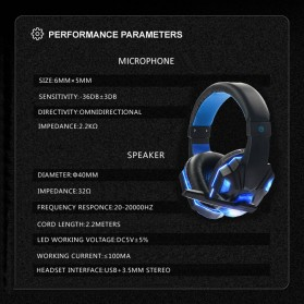 HANXI Gaming Headphone Headset LED with Mic - SY830MV - Red - 5