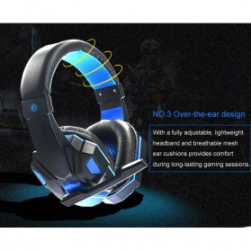 HANXI Gaming Headphone Headset LED with Mic - SY830MV - Red - 8