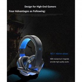 HANXI Gaming Headphone Headset LED with Mic - SY830MV - Red - 9