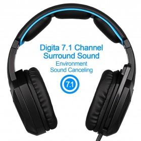 Sades Spirit Wolf Gaming Headphone Headset LED Virtual 7.1 with Mic - Blue - 3