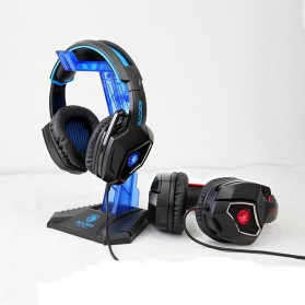 Sades Spirit Wolf Gaming Headphone Headset LED Virtual 7.1 with Mic - Blue - 4