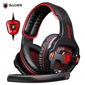 Sades Gaming Headphone Headset LED Virtual 7.1 with Mic - SA-903 - Red - 1