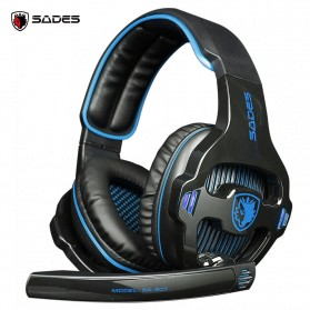 Sades Gaming Headphone Headset LED Virtual 7.1 with Mic - SA-903 - Blue