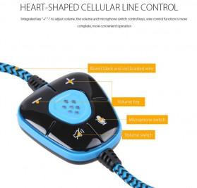Sades Gaming Headphone Headset LED Virtual 7.1 with Mic - SA-903 - Blue - 10