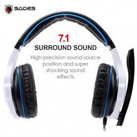 Sades Gaming Headphone Headset LED Virtual 7.1 with Mic - SA-903 - Blue - 2