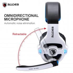 Sades Gaming Headphone Headset LED Virtual 7.1 with Mic - SA-903 - Blue - 3