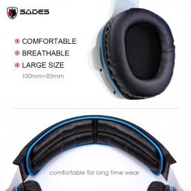 Sades Gaming Headphone Headset LED Virtual 7.1 with Mic - SA-903 - Blue - 4